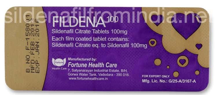 Fildena Sildenafil tablets